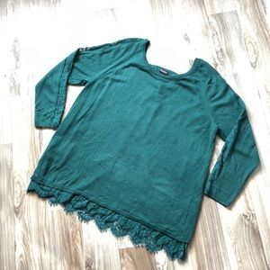Women's long sleeve sweater with detailing